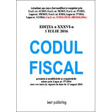 Codul fiscal format A4 - editia a XXXVI-a - 1 iulie 2016