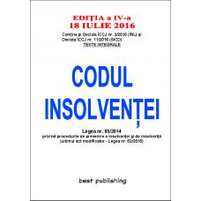 Codul insolventei - editia a IV-a - 18 iulie 2016