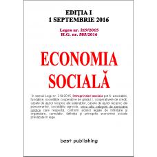 Economia socială - editia I - 1 septembrie 2016 .