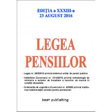 Legea pensiilor - editia a XXXIII-a - 23 august 2016