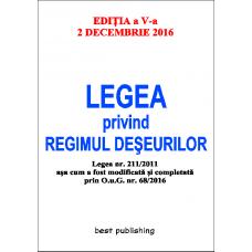 Legea privind regimul deseurilor - editia a V-a - 2 decembrie 2016