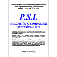 P.S.I. modificari si completari septembrie 2016 - editia I - 6 septembrie 2016 .